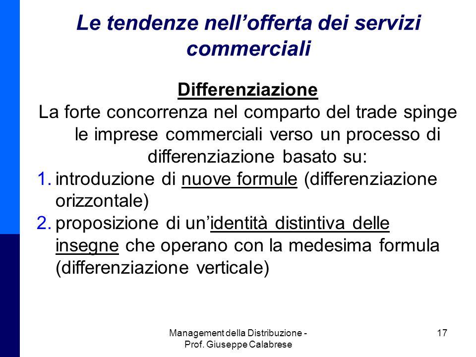 Le tendenze nell'offerta dei servizi commerciali