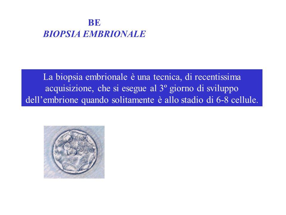 BE BIOPSIA EMBRIONALE