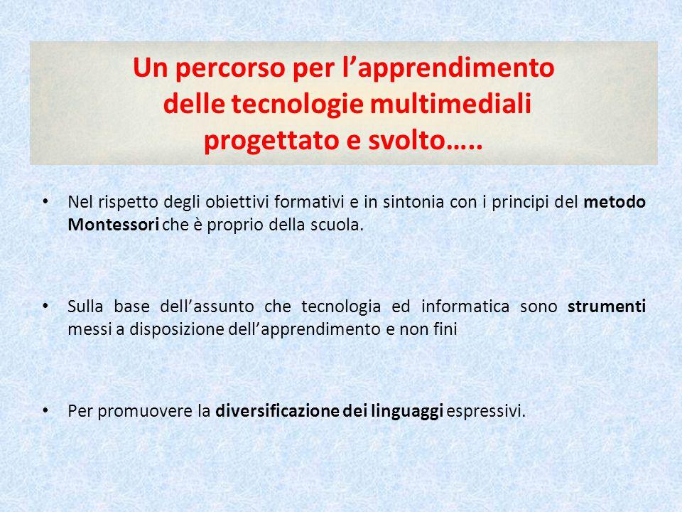 Un percorso per l'apprendimento delle tecnologie multimediali progettato e svolto…..
