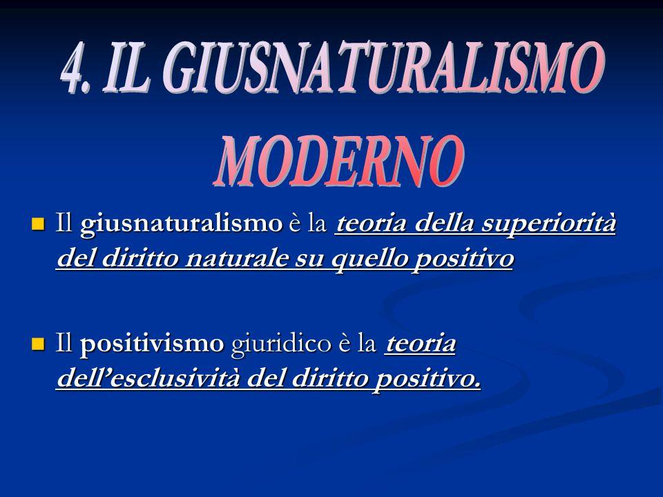 4. IL GIUSNATURALISMO MODERNO