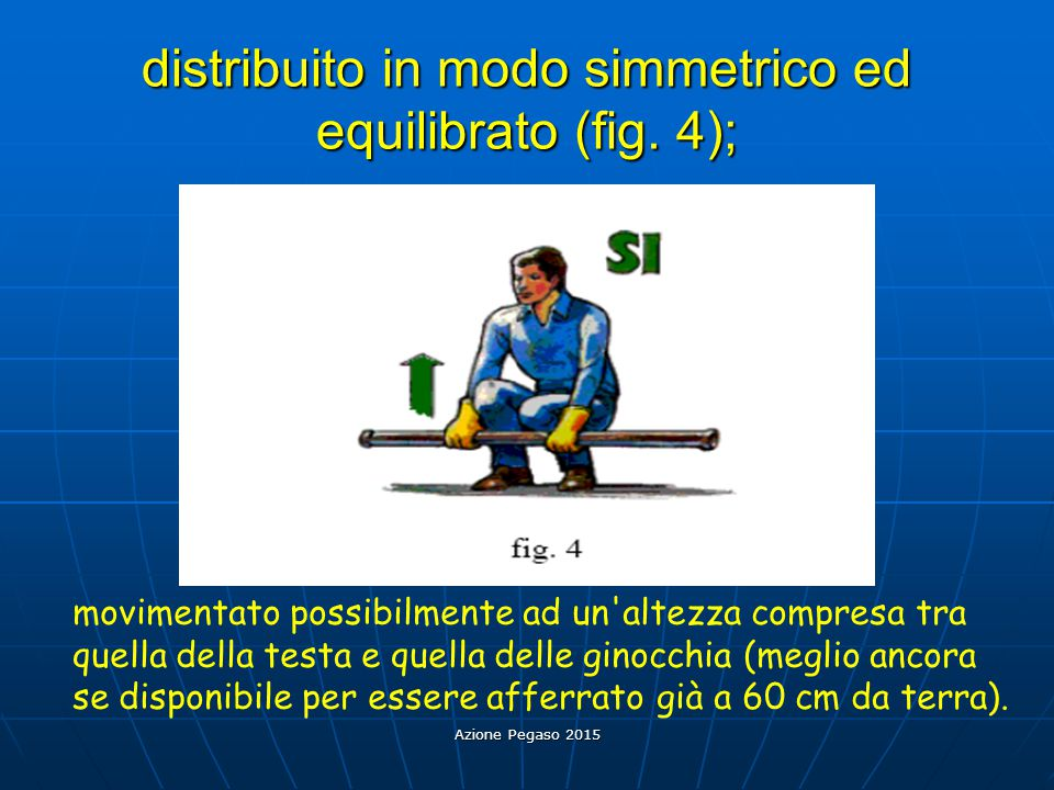 distribuito in modo simmetrico ed equilibrato (fig. 4);
