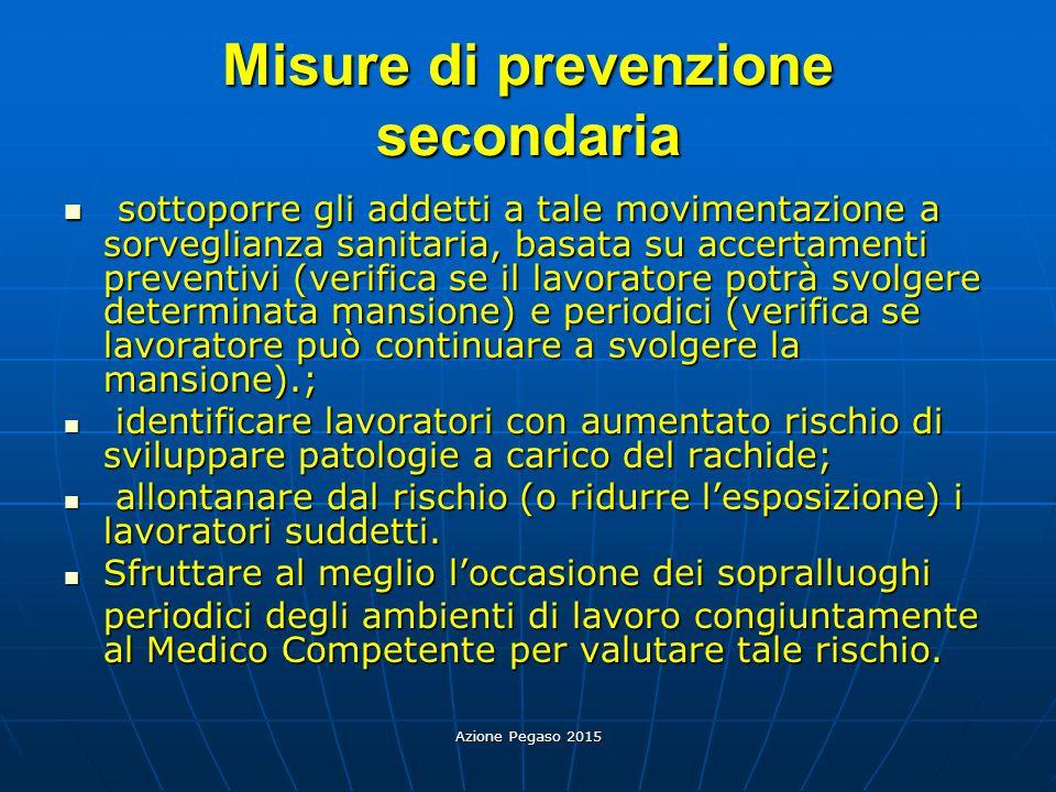 Misure di prevenzione secondaria