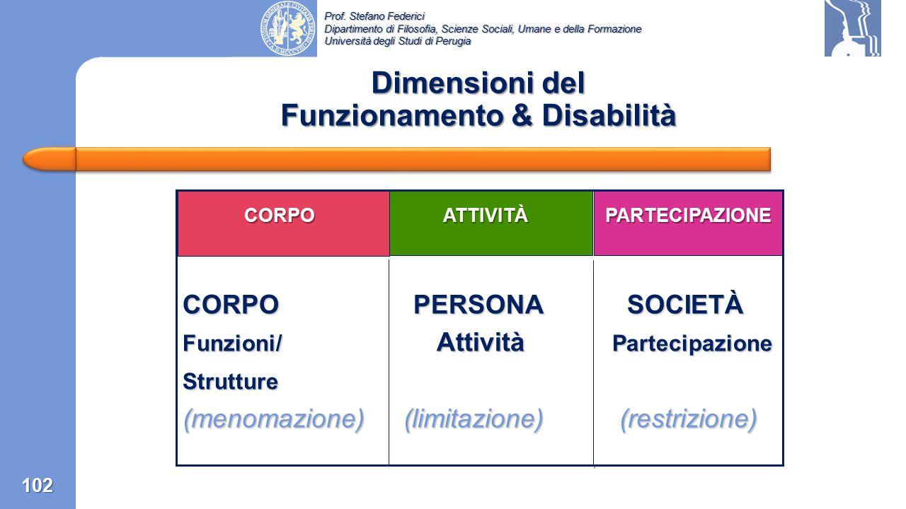 Dimensioni del Funzionamento & Disabilità