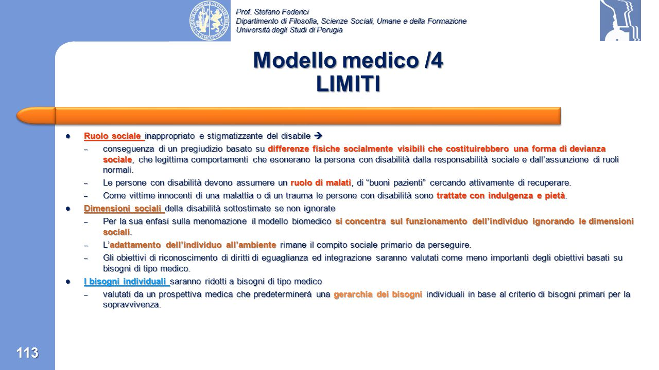 Modello medico /4 LIMITI