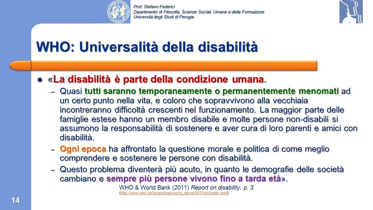 WHO: Universalità della disabilità