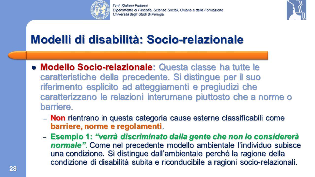 Modelli di disabilità: Socio-relazionale