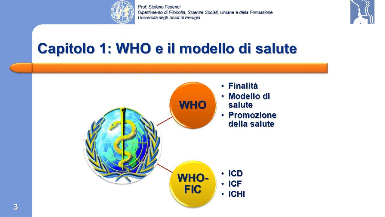 Capitolo 1: WHO e il modello di salute