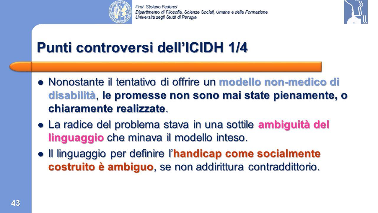 Punti controversi dell'ICIDH 1/4
