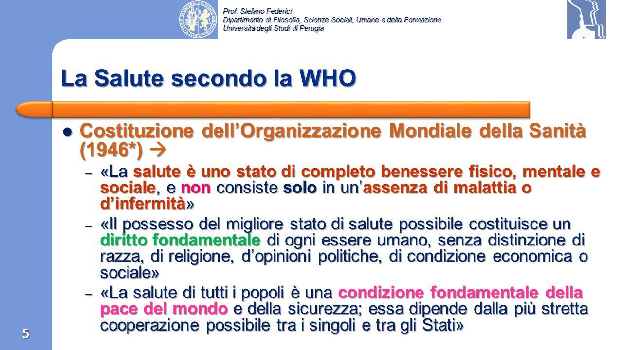 La Salute secondo la WHO