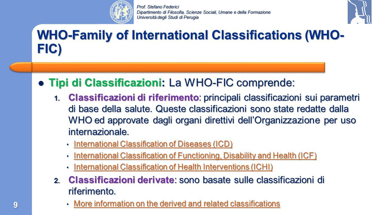 WHO-Family of International Classifications (WHO-FIC)