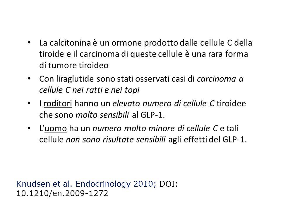 81 La calcitonina è un ormone prodotto dalle cellule C della tiroide e il carcinoma di queste cellule è una rara forma di tumore tiroideo.