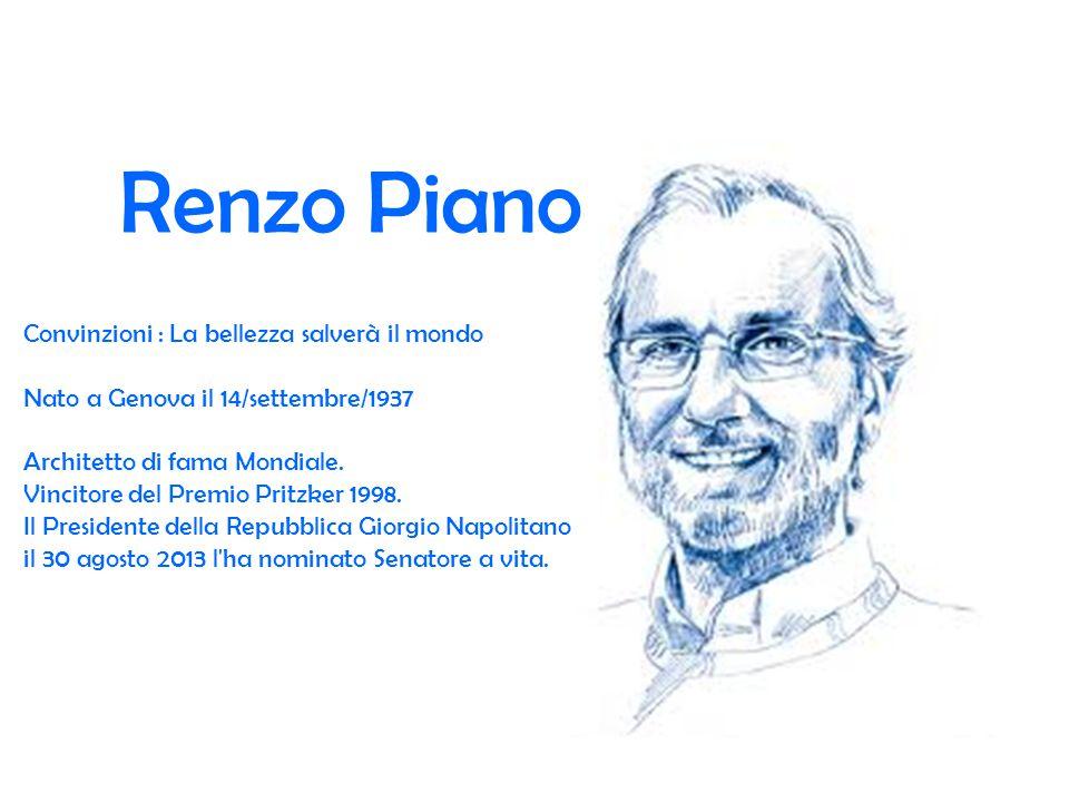 Renzo Piano Convinzioni : La bellezza salverà il mondo