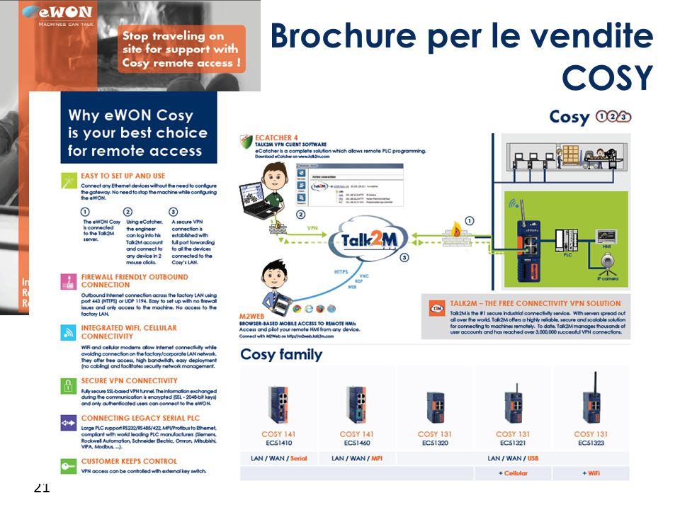 Brochure per le vendite COSY