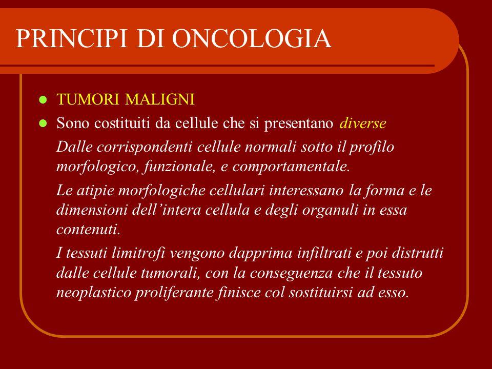 PRINCIPI DI ONCOLOGIA TUMORI MALIGNI