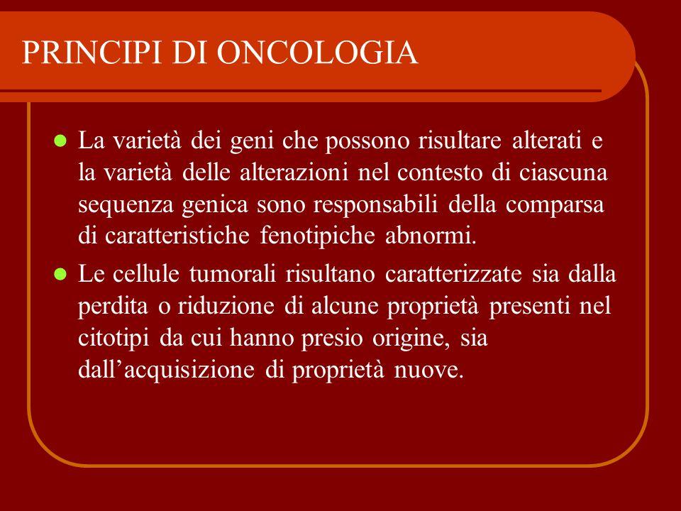 PRINCIPI DI ONCOLOGIA