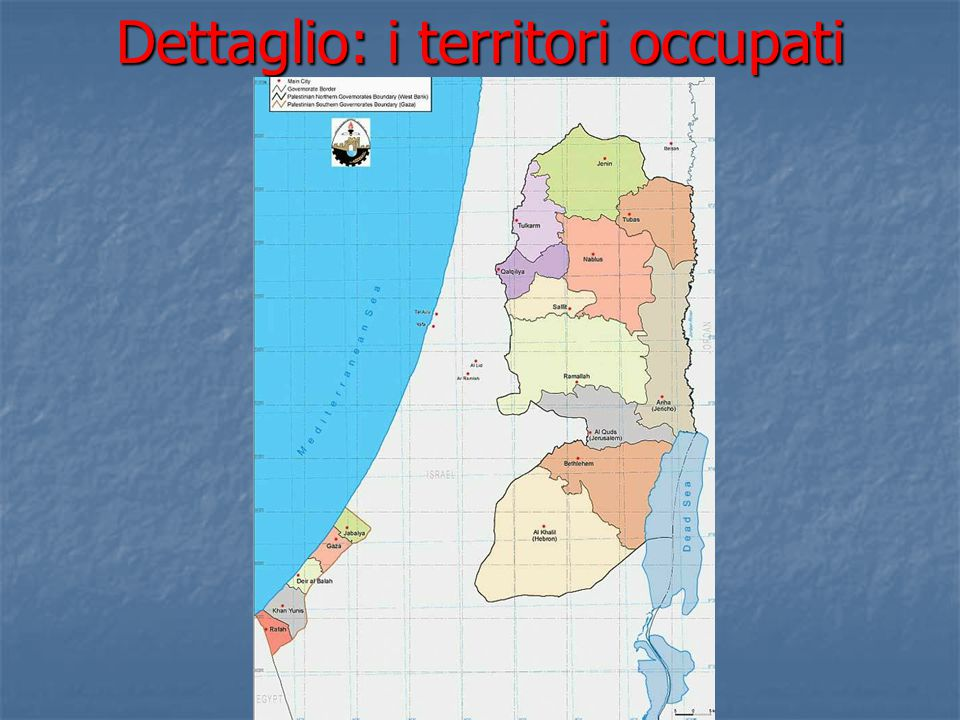 Dettaglio: i territori occupati