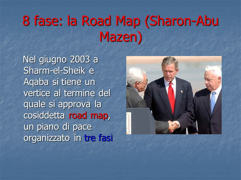 8 fase: la Road Map (Sharon-Abu Mazen)