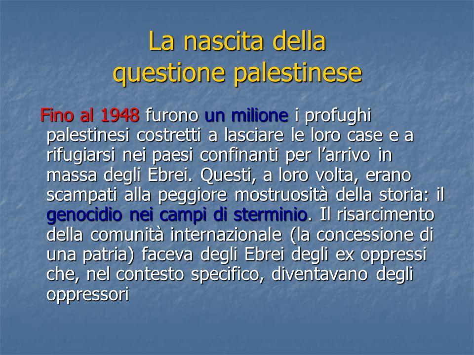 La nascita della questione palestinese