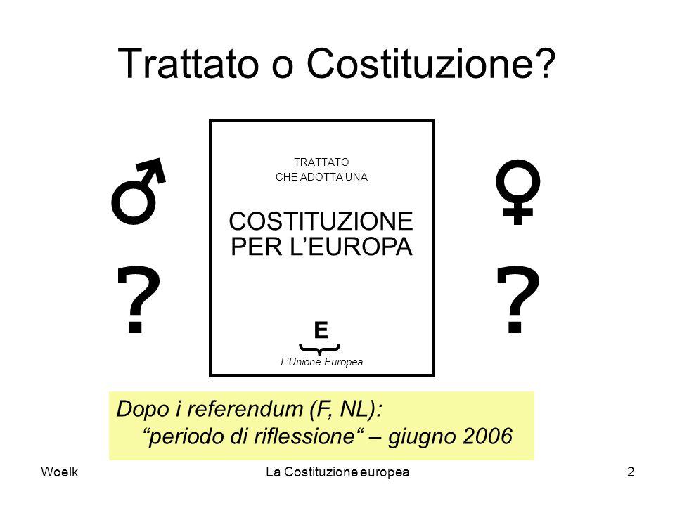 Trattato o Costituzione