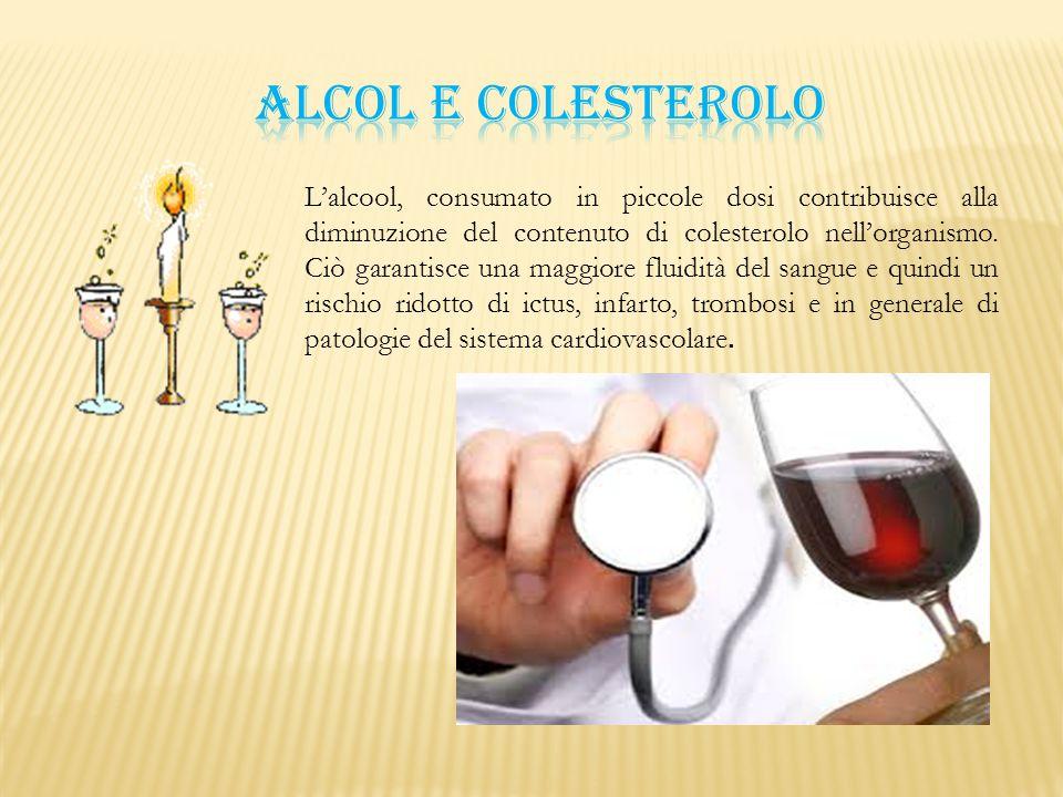 ALCOL E COLESTEROLO