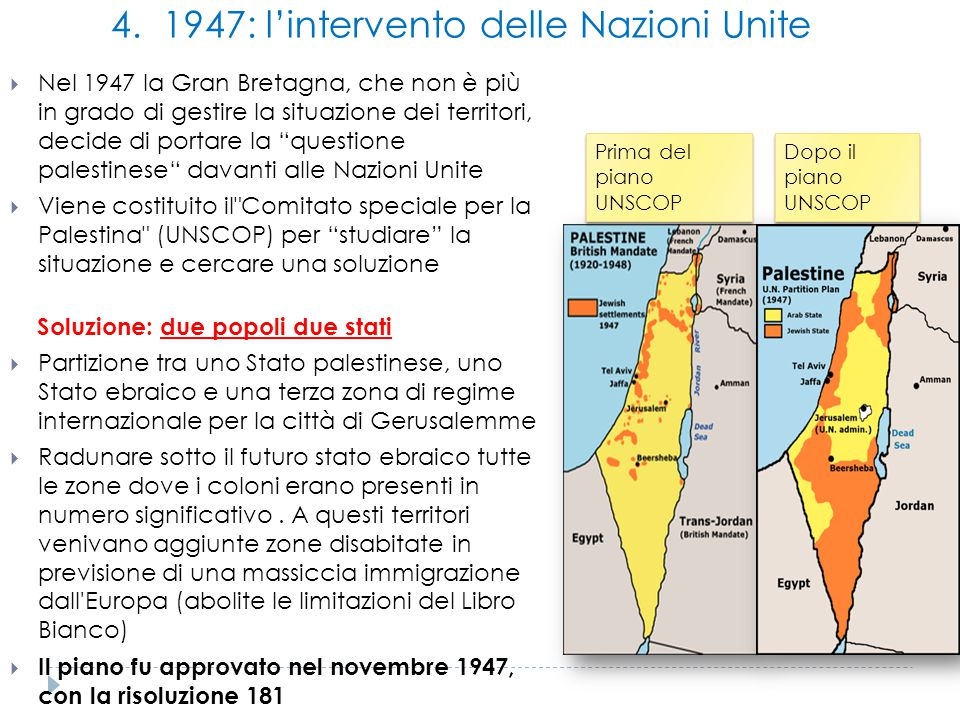 4. 1947: l'intervento delle Nazioni Unite