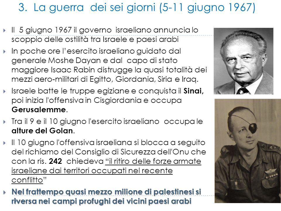3. La guerra dei sei giorni (5-11 giugno 1967)