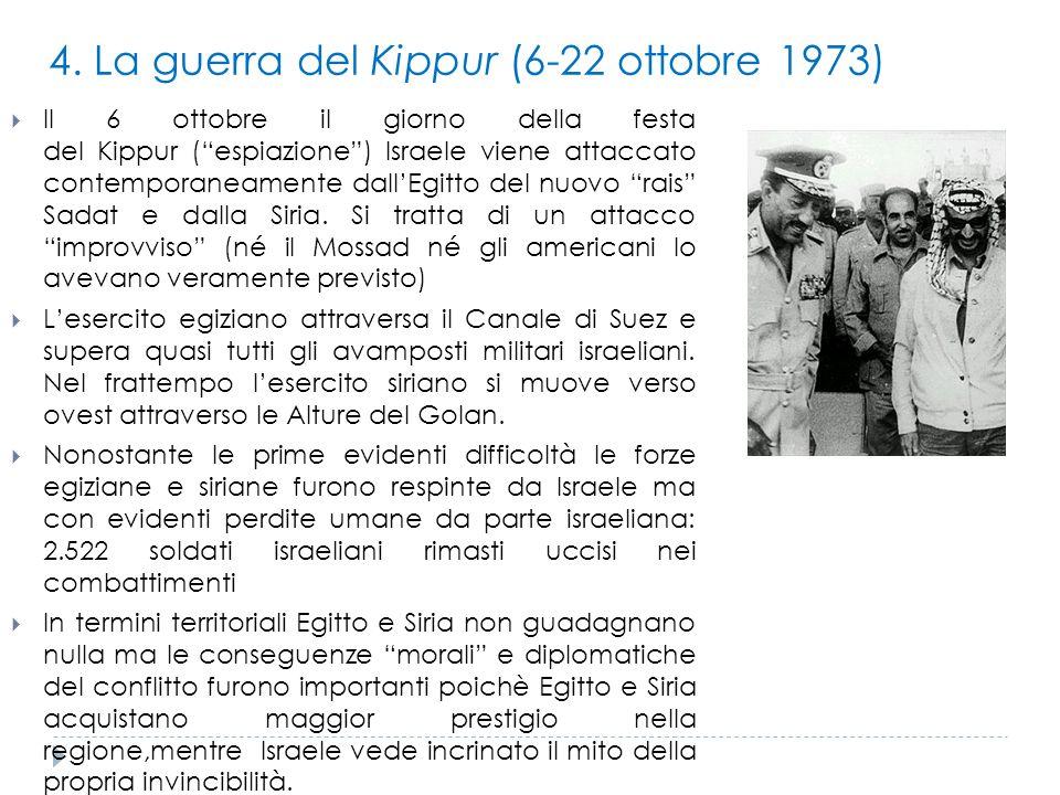 4. La guerra del Kippur (6-22 ottobre 1973)