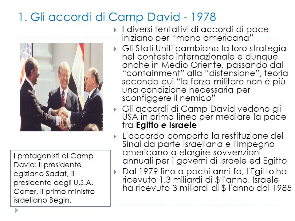 1. Gli accordi di Camp David - 1978