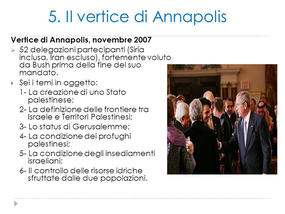 5. Il vertice di Annapolis