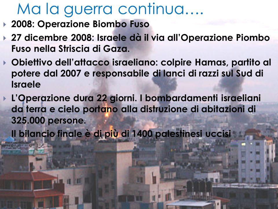 Ma la guerra continua…. 2008: Operazione Biombo Fuso