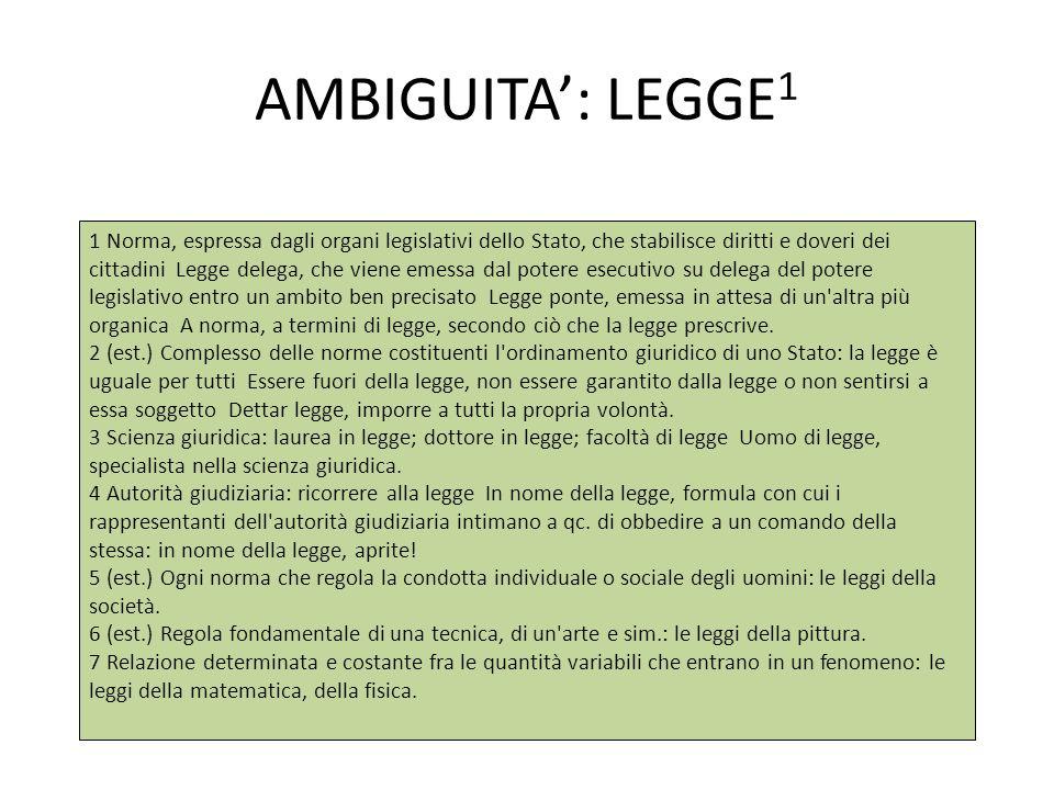 AMBIGUITA': LEGGE1