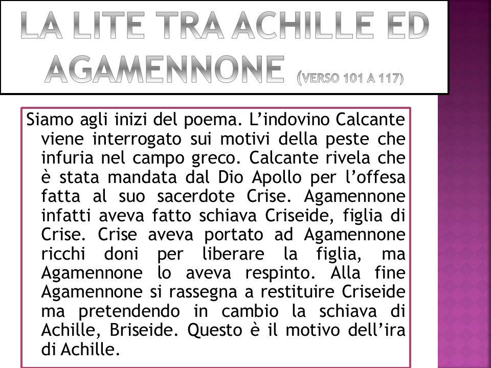 LA LITE TRA ACHILLE ED AGAMENNONE (VERSO 101 A 117)