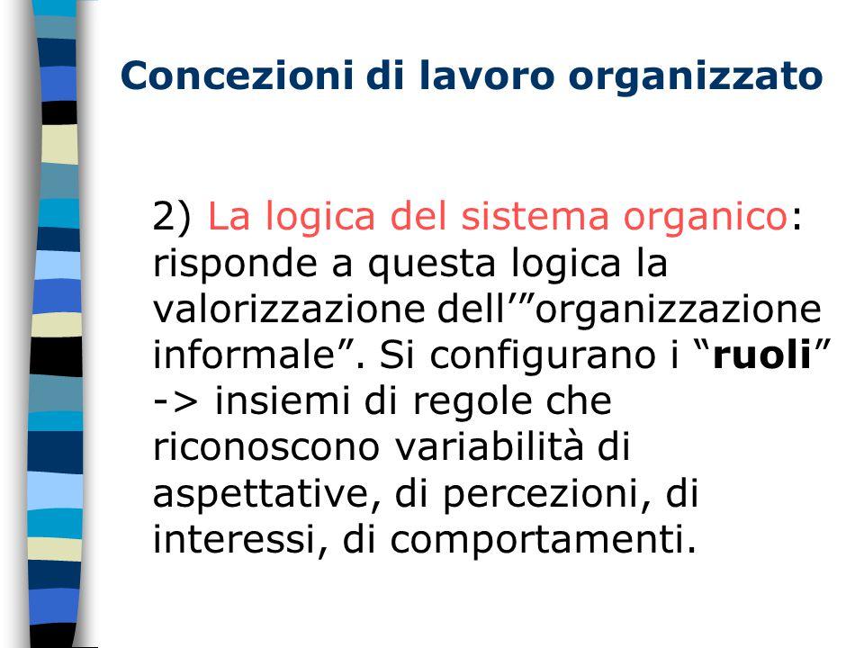 Concezioni di lavoro organizzato