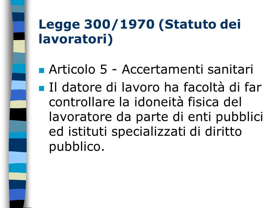 Legge 300/1970 (Statuto dei lavoratori)
