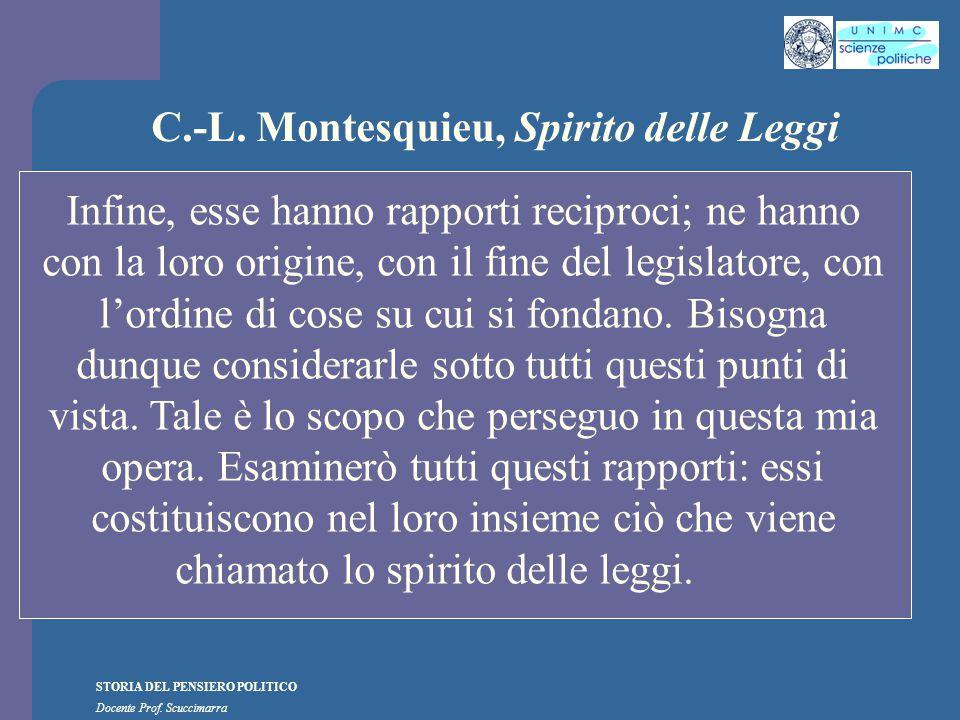 C.-L. Montesquieu, Spirito delle Leggi