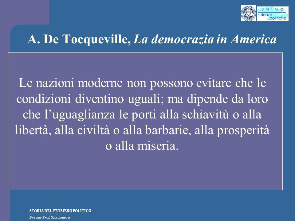 A. De Tocqueville, La democrazia in America