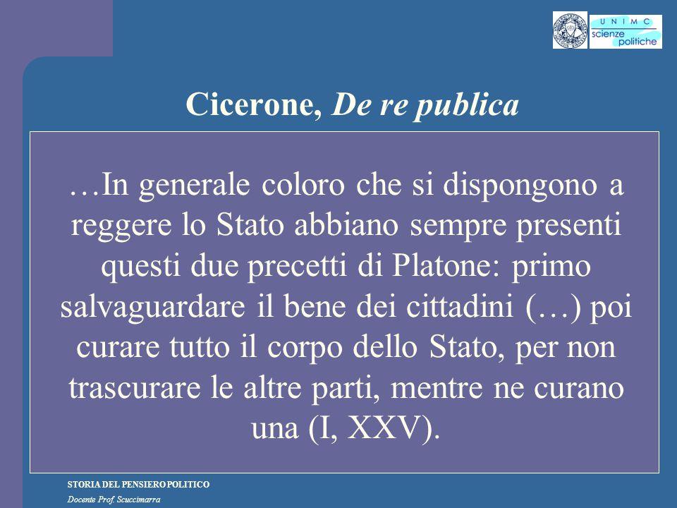 Cicerone, De re publica