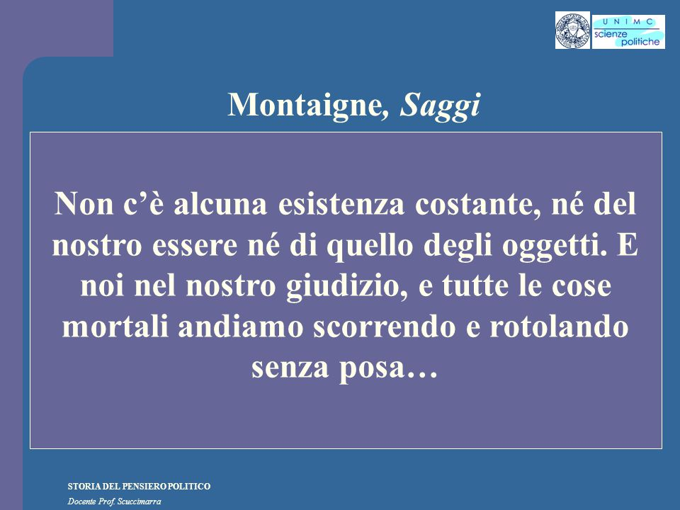 Montaigne, Saggi