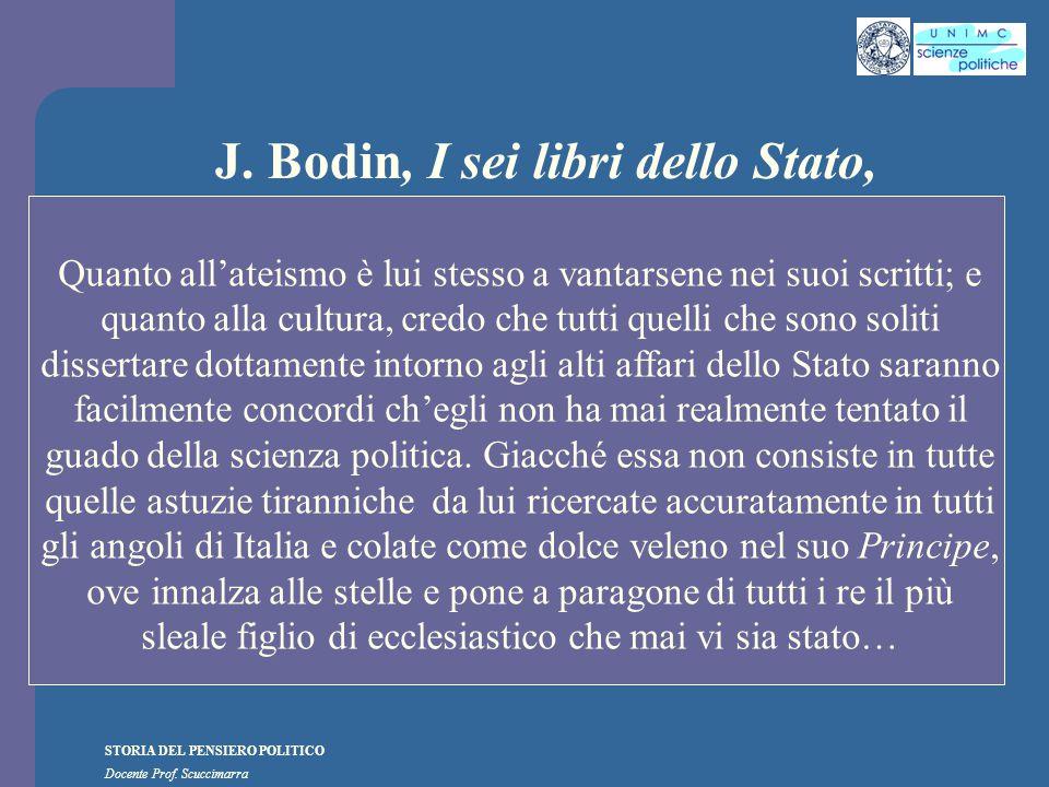 J. Bodin, I sei libri dello Stato,