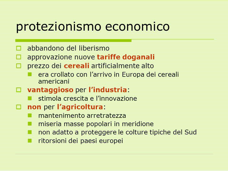 protezionismo economico