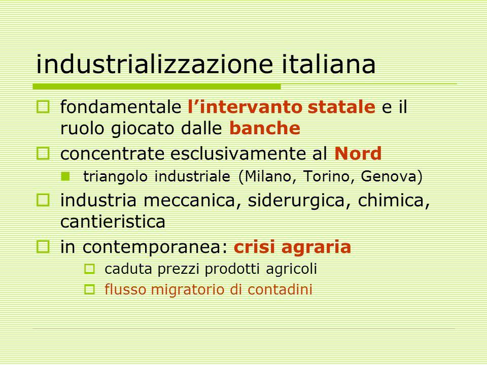 industrializzazione italiana