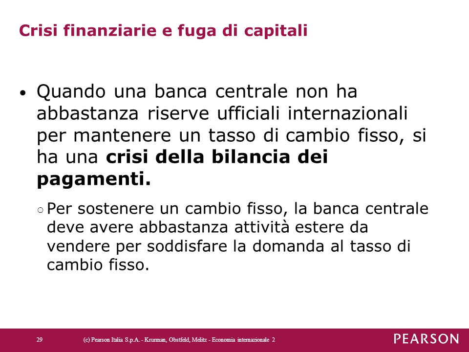 Crisi finanziarie e fuga di capitali
