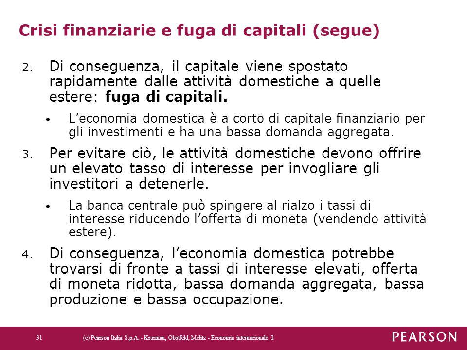 Crisi finanziarie e fuga di capitali (segue)