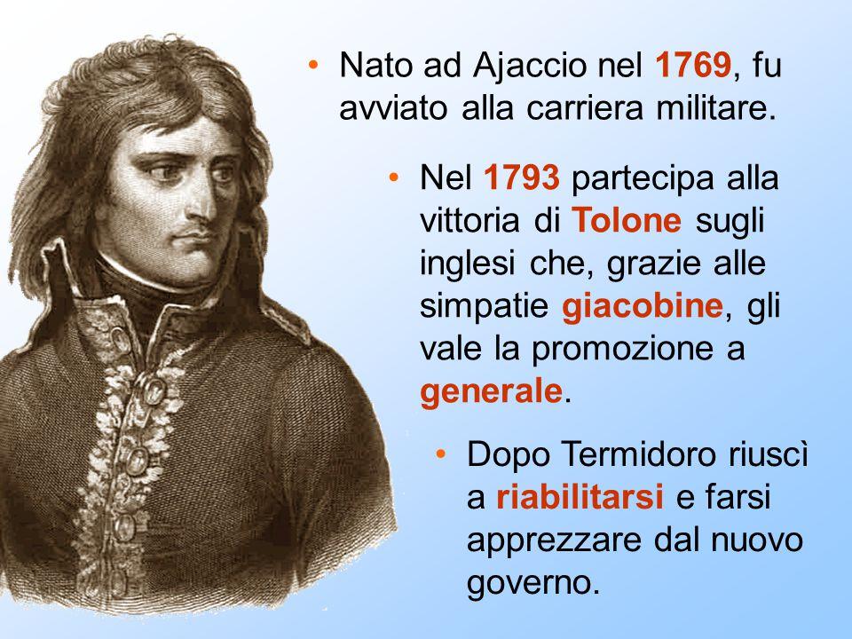 Nato ad Ajaccio nel 1769, fu avviato alla carriera militare.