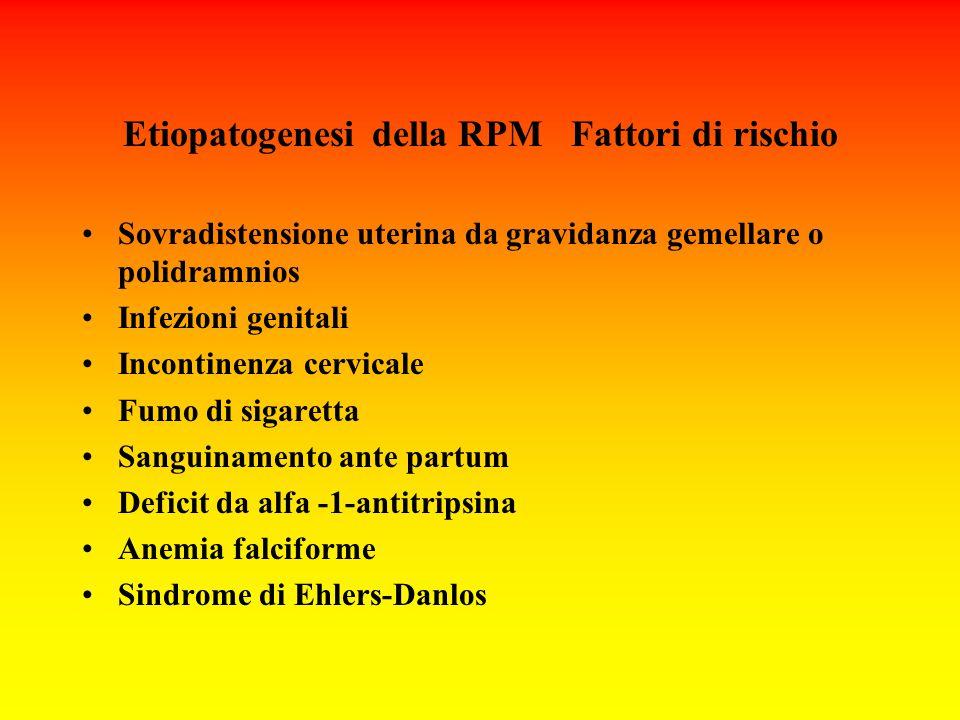 Etiopatogenesi della RPM Fattori di rischio