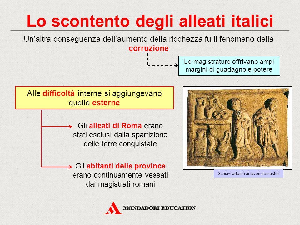 Lo scontento degli alleati italici