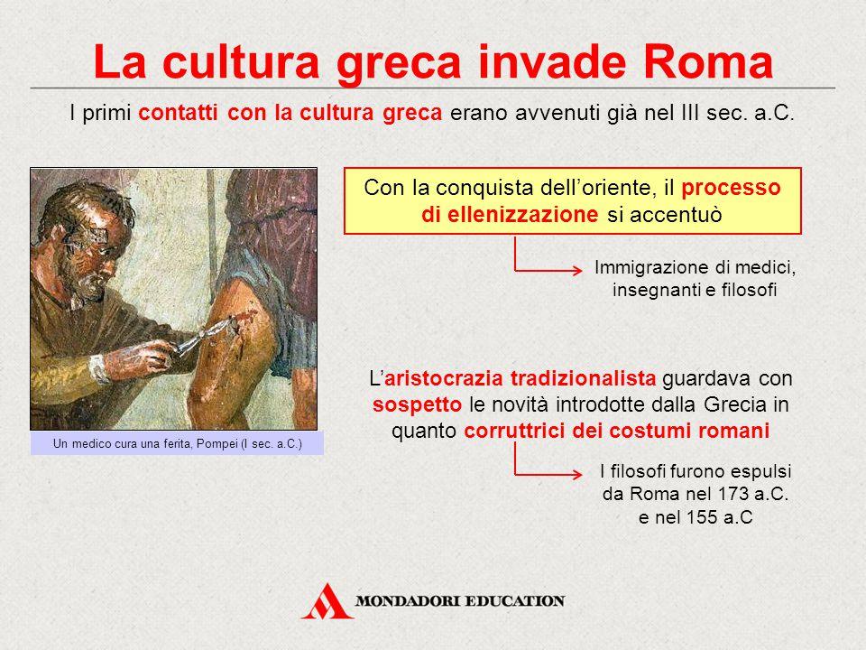La cultura greca invade Roma