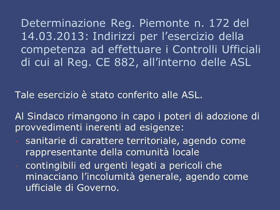 Determinazione Reg. Piemonte n. 172 del 14. 03