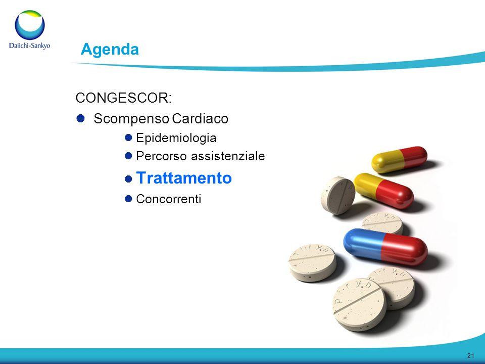 Trattamento Agenda CONGESCOR: Scompenso Cardiaco Epidemiologia