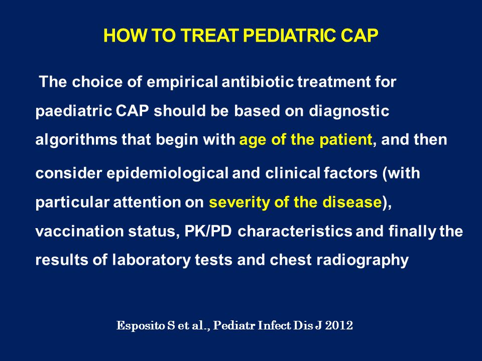 HOW TO TREAT PEDIATRIC CAP